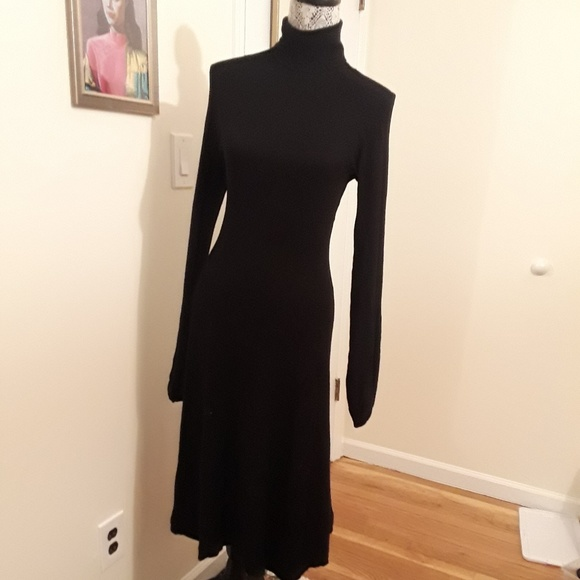 46907a37 Zara Dresses | Gorgeous Black Turtle Neck Dress | Poshmark